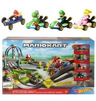 Hot Wheels Mario Kart Circuit Track Set + Yoshi Princess Peach Luigi Die-Cast ✅✅
