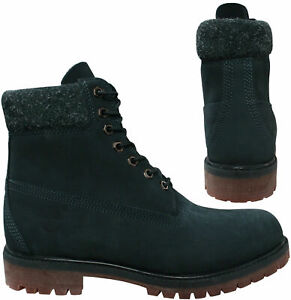 Timberland 6 Inch Premium Waterproof Nubuck Leather Navy Mens Boots A1UEU Z23A