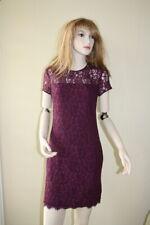 Diane Von Furstenberg  barbie lace purple rose dress 8 NWT