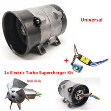 Auto Electric Turbo Charger Air Intake Boost Fan 12V 16.5A Powerful w/ Contol 1x