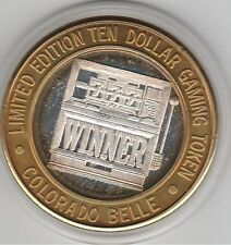 1994 Colorado Belle Laughlin NV WNNER Slot Machine .999 Fine Silver $10 Token