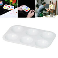 6 Well Paint Palette White Mixing Palette Tray for Kids Art Painting 4PCS LU7
