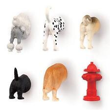 Kikkerland Dog Butt Magnets Set of 6 MG17 Refrigerator Animal Novelty Funny