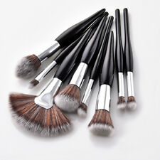 8PC Black Makeup Brushes Set Foundation Powder Eyeshadow Eyeliner Lip Brush Tool