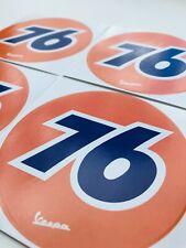 4er Set VESPA 76 Aufkleber Sticker Schild Motorroller Roller Rallye Startnummer