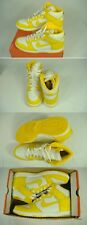 New Mens 9.5 NIKE Dunk High Hi Top Yellow White Leather Shoes $85 317982-124