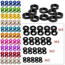 20~100Pcs Aluminum Alloy M3 M4 M5 Anodized Countersunk Head Bolt Washers Gasket