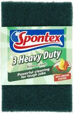 24 Spontex Heavy Duty Scourer Pad Scouring Pads (8 packs of 3)