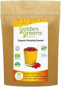 Organic ROSEHIP Powder 200g made from the Whole-Fruit including Shell and Seed