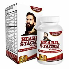 Beard & Stache Nutrients for Men: Facial Hair / Beard Growth Vitamins/Supplement
