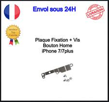 Plaque de Fixation Nappe Bouton Home Fer Protection Iphone 7 7+ avec Vis