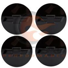 2014-2018 Silverado Tahoe Suburban GM Gloss Black Center Cap Set Of 4 19333202