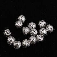 100 Stück Metallperlen Kugel Spacer Beads Perlen Zwischenperlen 8mm Silber