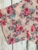 XL/1X/2X/3X Pink Roses Blue Floral Kimono Jacket Topper Duster White Red