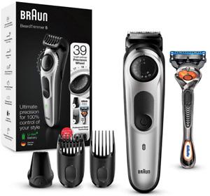 Braun BT5260 Beard Trimmer / Clipper for Men - 39 Length Settings! Black/Silver