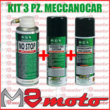 Kit Meccanocar Spray Catena + Gonfia Ripara No Stop + Igienizzante Caschi Moto