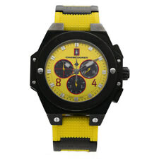 Chase-Durer Conquest Sport Chrono Black IP Steel 47mm Yellow Rubber Men's Watch
