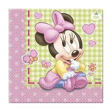 Bebé Minnie Mouse 20 servilletas almuerzo (fiesta/cumpleaños/niños/disney)