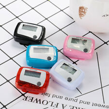 LCD Pedometer Step Jogging Calorie Counter Distance Fitness Belt Clip Outdoor