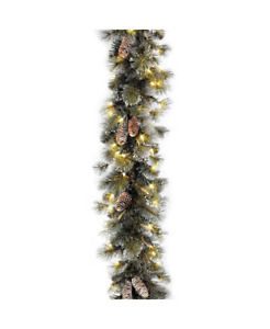 National Tree Company Glitter Pine Pre Lit Garland With Clear Lights 9 Foot