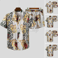 INCERUN Men's Hawaiian Short Beach Suit Printed Shorts + Shirts Party Hippie Set
