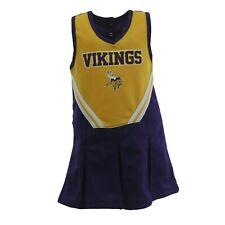 Minnesota Vikings Nfl Infant Toddler Cheerleader Combo Set with Bottoms New