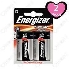 2 Batterie Alcaline Pile Energizer Torcia D Alkaline Power LR20