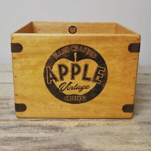 "Apple Vintage Record Box Large 80 Album Crate 12"" Vintage"
