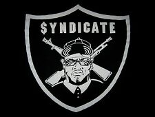 Rhyme Syndicate Raiders Ice-t Lord Finesse king tee Vtg 80s 90s hip hop T-shirt