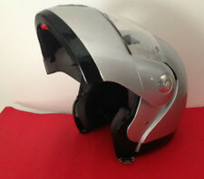 CASCO MOTO SCOOTER MODULARE DIEFFE ARGENTO METAL TG. L