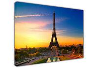 SUNSET EIFFEL TOWER PARIS LARGE CANVAS PRINTS WALL ART / PHOTO / LANDSCAPE PRINT