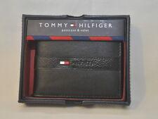 $44 NEW TOMMY HILFIGER bifold BILLFOLD PASSCASE WALLET 5673 BLACK BROWN or TAN