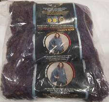 Purple Vista 3 Skeins Lion Brand Color Wave Yarn NIP --- Made in the USA
