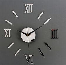 3D Luxury DIY Clock EVA Foam Materi Decoration Mirror Stickers Art Wall Clock FS