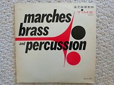 Marches, Brass & Percussion LP S/2017, Stereo. Time Records (#2260)