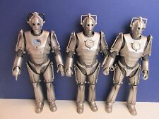 """3 dr DOCTOR WHO 12"""" CYBERMAN army ACTION FIGURE DOLL lot set BBC L89"""