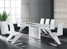 GAVINA Esszimmertisch 150-210x90 Designertisch Esstisch Modern Hochglanz Wei�Ÿ