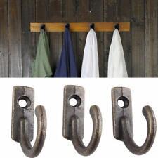 1/10xAntique Brass Wall Mounted Hook Key Holder Letter Rack Hanger Hanging Decor