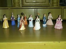 Set of 11 Franklin Mint Ladies of Fashion Porcelain Figurines