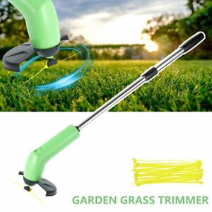 Electric Cordless Garden Grass Trimmer Weed Strimmer Cutter Tool Rechargeable K