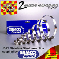 SAMCO SPORT RADIATOR COOLANT RAD HOSE STAINLESS JUBILEE CLIP CLAMP KIT CK DUC-8