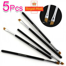5 X Eyebrow Brush Tinting Eyeshadow Pro Angled Cosmetic Eye Brow Brushes Set A