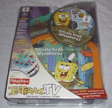 Fisher Price Spongebob Square Pants Krusty Krab Adventures Interac TV Dvd Game