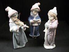 LLADRO SET OF THREE CHRISTMAS CAROLERS FIGURINES / NUMBERS #6532, 6533, #6534