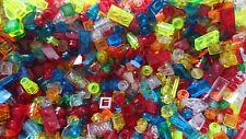 Lego 100 Glassteine 1x1 / 1x2  transparent alle Farben durchsichtig