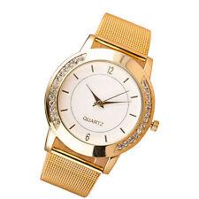 Latest Women Watch Crystal Stainless Steel Analog Quartz Wrist Watch Bracelet US