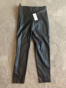 Karen MillenSoft Black Leather Leggings UK 14 / EU 42 Trousers Faux