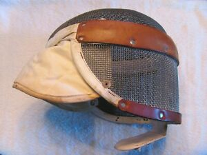 Vintage Santelli Fencing Wire Mesh Mask. Halloween.