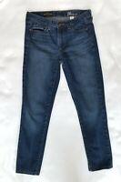 J.Crew Womens Midrise Toothpick Ankle Skinny Jeans Stretch Medium Wash Size 26