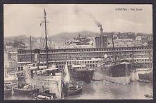 GENOVA CITTÀ 470 PORTO - NAVI Cartolina viaggiata 1914